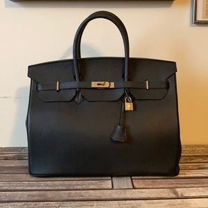 Leather travel bag 38""